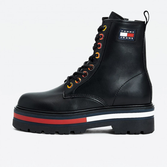 Tommy Jeans Badge Iridescent Eyelet Cleat Women's Boots