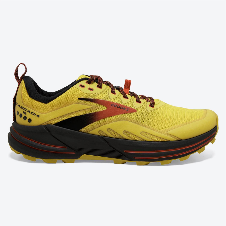 Brooks Cascadia 16 Yellow/Black/Grenadine Παπουτσι (9000087088_55120)