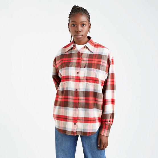 Levis Remi Utility Shirt Rosie Plaid Chicory