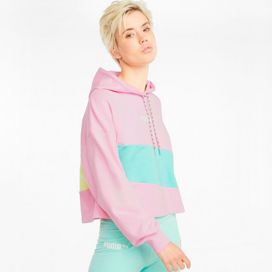 Puma INTL Cropped Γυναικεία Μπλούζα Με Κουκούλα