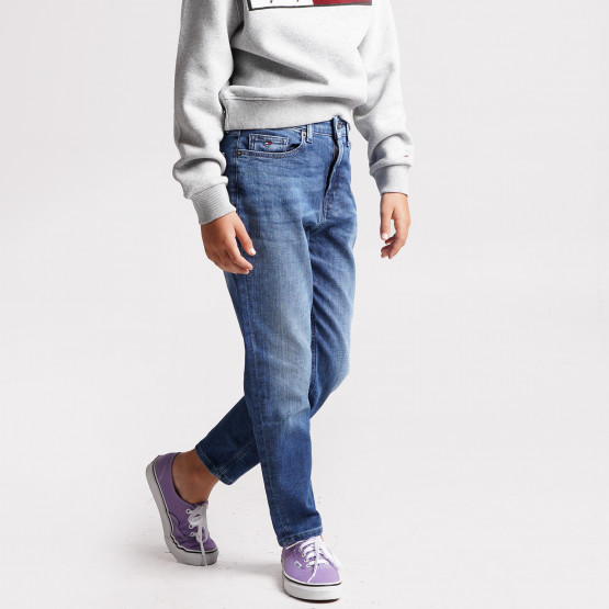 Tommy Jeans High Rise Tapered Παιδικό Τζιν Παντελόνι