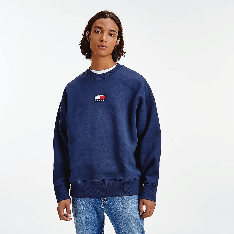 Tommy Jeans Tommy Badge Crew Ανδρική Μπλούζα Φούτερ (9000089978_45076)
