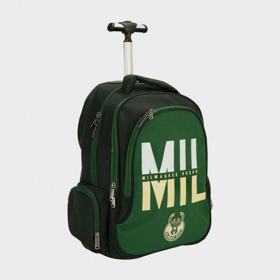 Back Me Up NBA Milwaukee Bucks Τρόλεϊ Σχολική Τσάντα 30L