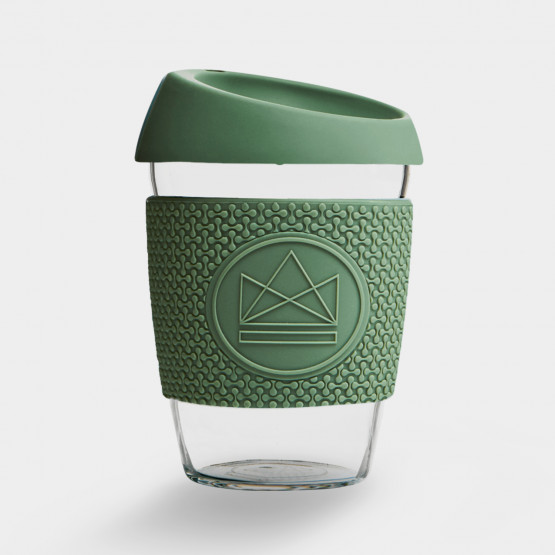 Neon Kactus Happy Camper |Glass Coffee Cups - 340ml