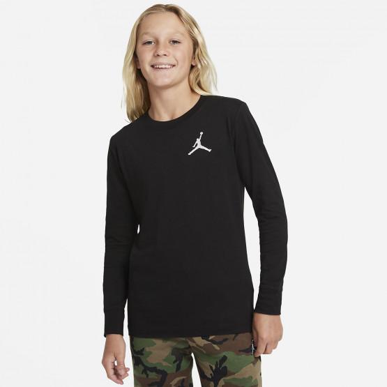 Jordan Jumpman Air Embroidery Παιδική Μακρυμάνικη Μπλούζα