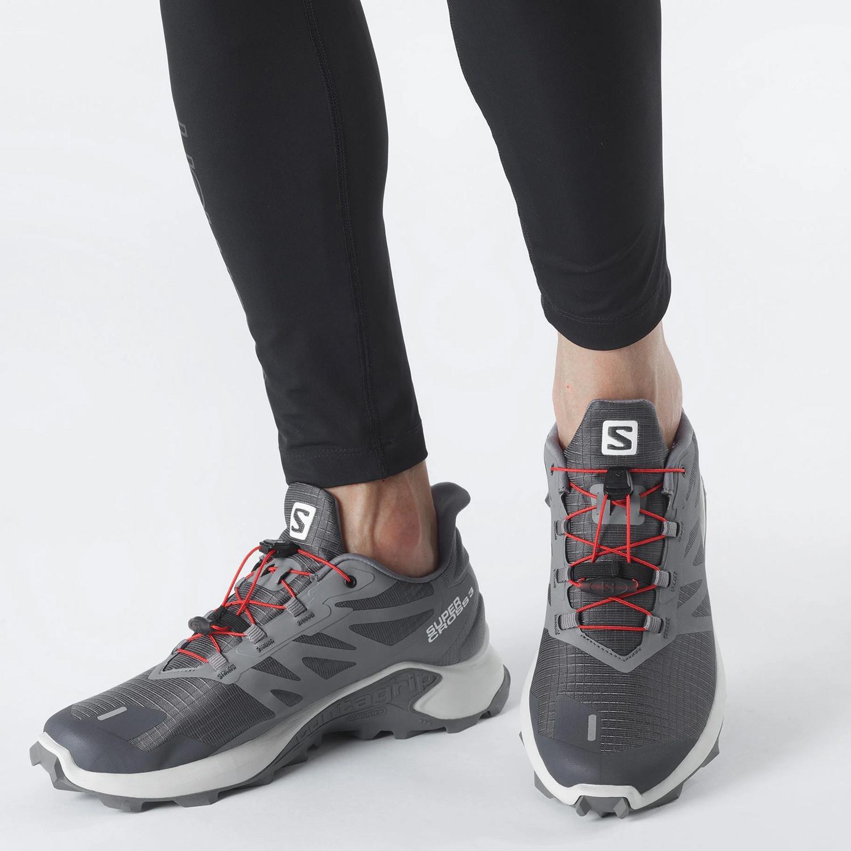 Salomon Trail Running Supercross 3 Ebony/Lunar Roc (9000086475_54938)