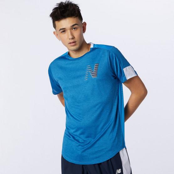 New Balance Printed Fast Flight Ανδρικό T-shirt