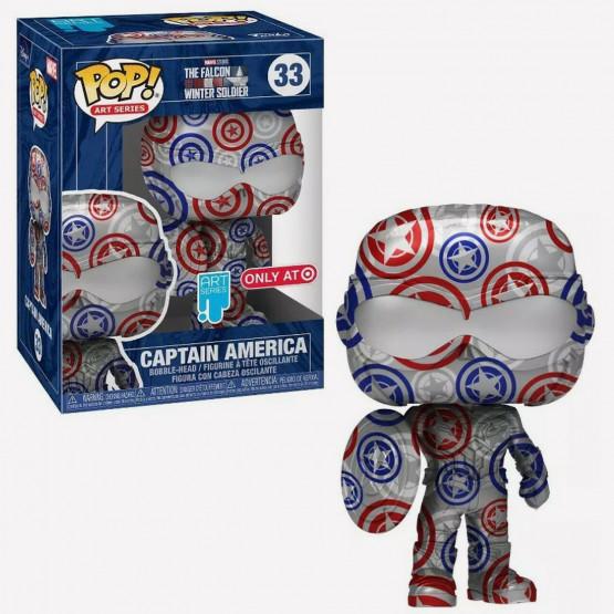 Funko Pop! Artist Series Marvel: Patriotic Age - Captain America Figure