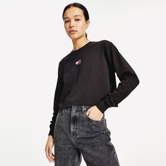 Tommy Jeans Badge Women's Long Sleeve Crop Top
