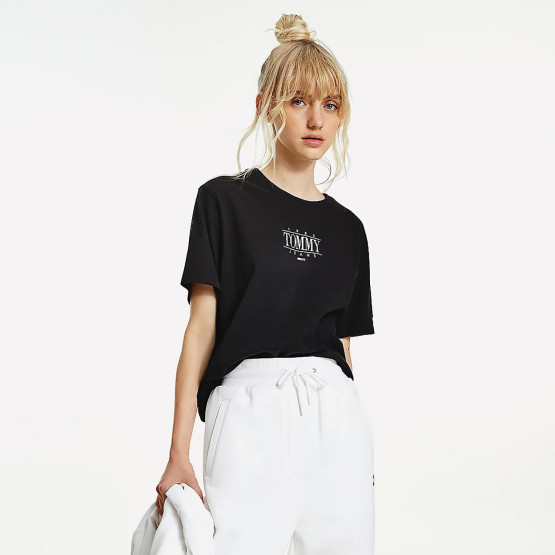 Tommy Jeans Essential Logo Cropped Women's T-Shirt