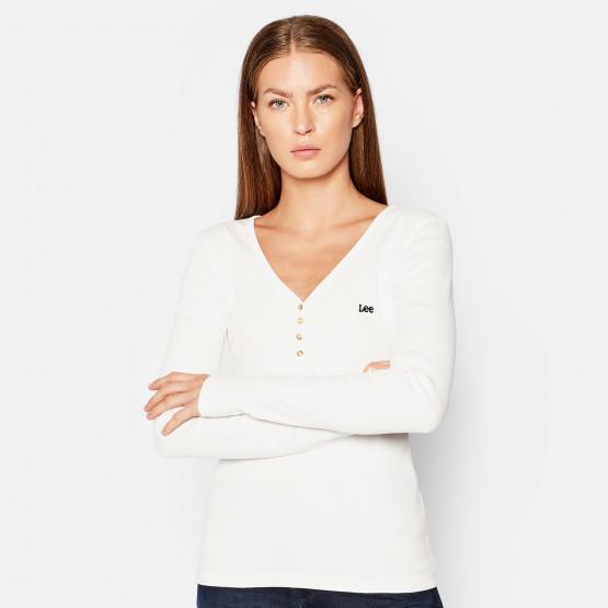 Lee Ribbed Henley Women's Long Sleeve T-Shirt