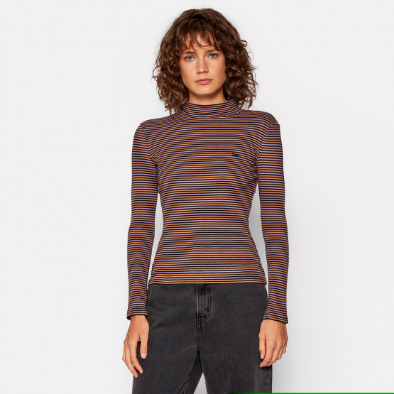 Lee Ribbed Striped Women's Long Sleeve T-Shirt