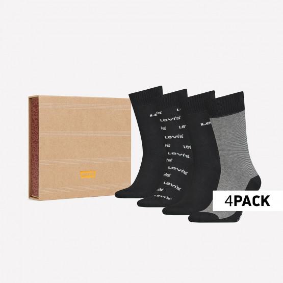 Levis Giftbox Regular Cut Logo Banner Unisex Κάλτσες - 4Pack