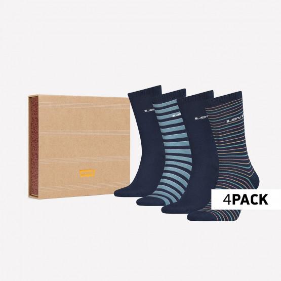Levis Giftbox Regular Cut Stripe Unisex Κάλτσες- 4 Pack