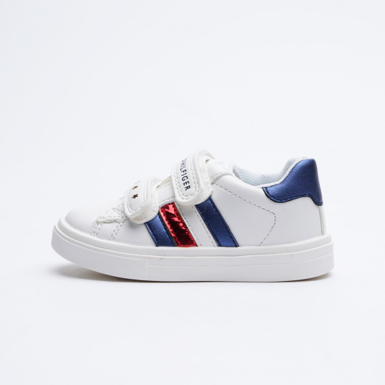 Tommy Jeans Low Cut Velcro Shoe White/Blue