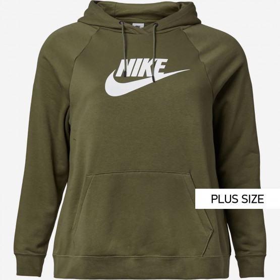 Nike Sportswear Essential Γυναικεία Plus Size Μπλούζα με Κουκούλα
