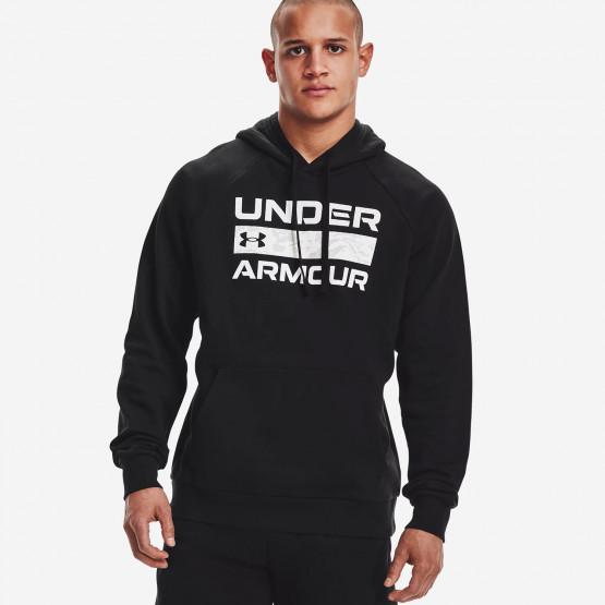 Men's UA Rival Fleece Signature Box Ανδρική Μπλούζα με Κουκούλα