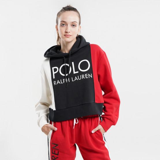 Polo Ralph Lauren Logo Fleece Γυναικεία Μπλούζα με Κουκούλα