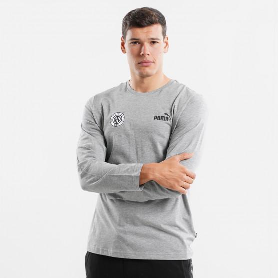 Puma Χ OFI Crete F.C. Small Logo Men's Long Sleeve T-Shirt