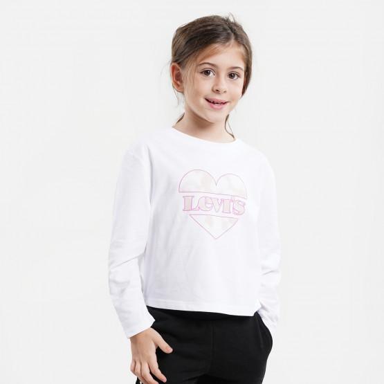 Levis CroppedLongΠαιδική Cropped Μπλούζα Με Μακρύ Μανίκι