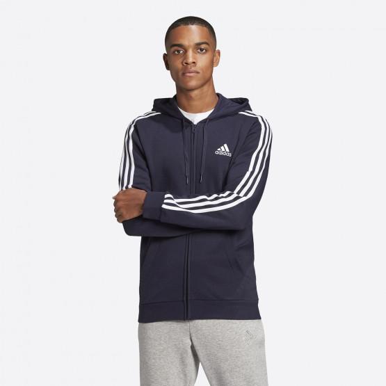 adidas Performance Essentials 3-Stripes Men's Full-Zip Hoodie