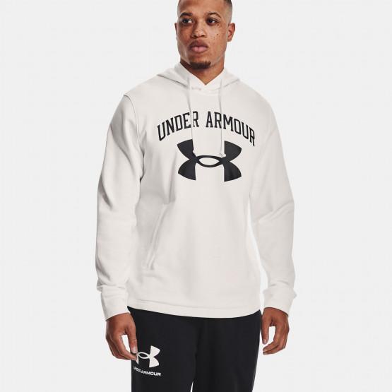 Under Armour Rival Terry Big Logo Ανδρική Μπλούζα με Κουκούλα