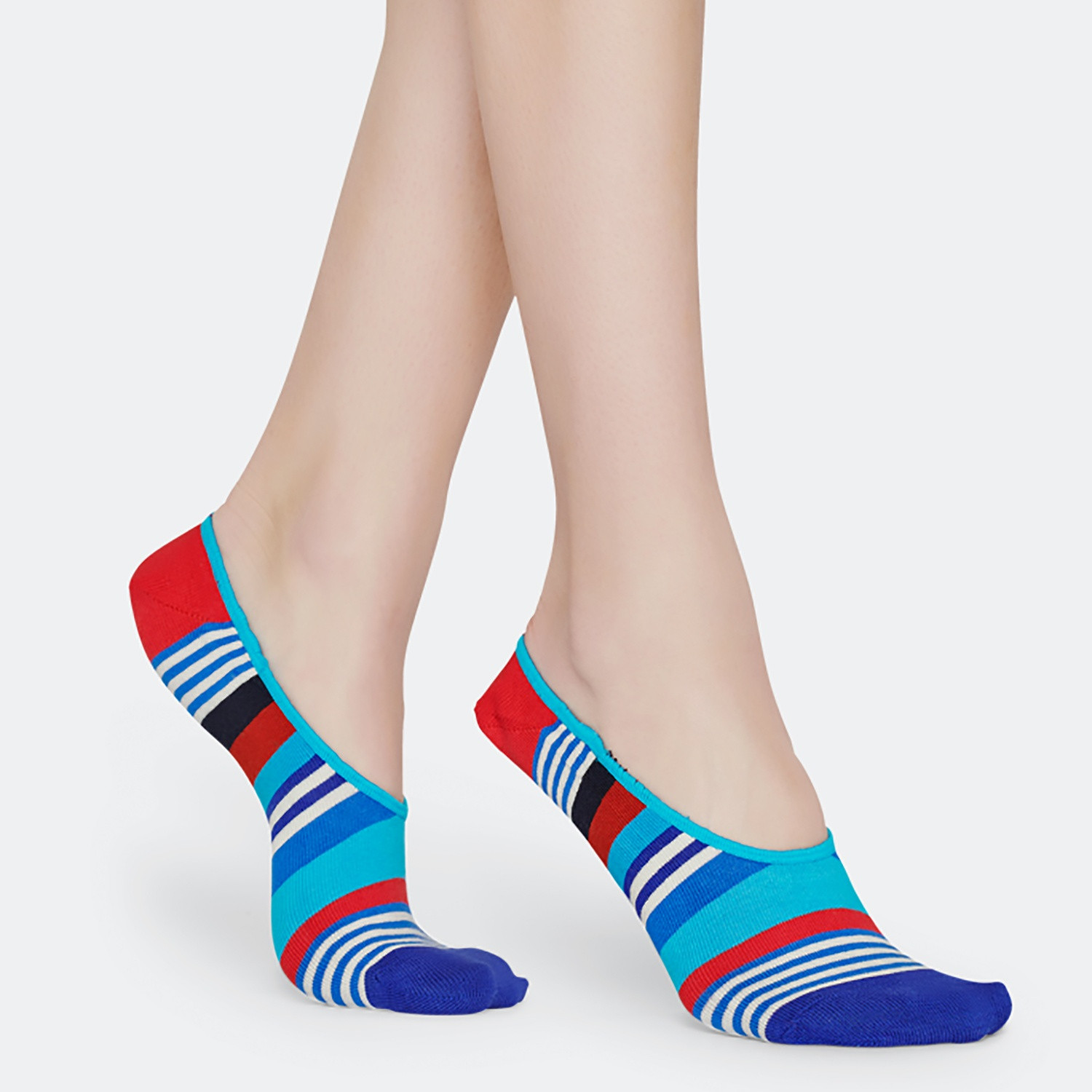 Happy Socks Multi Stripe Liner Unisex Socks - Unisex Κάλτσες (9000031316_9688)