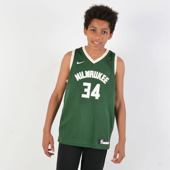 Nike Swingman Icon Jersey Player Bucks Antetokounmpo - Παιδική Μπλούζα