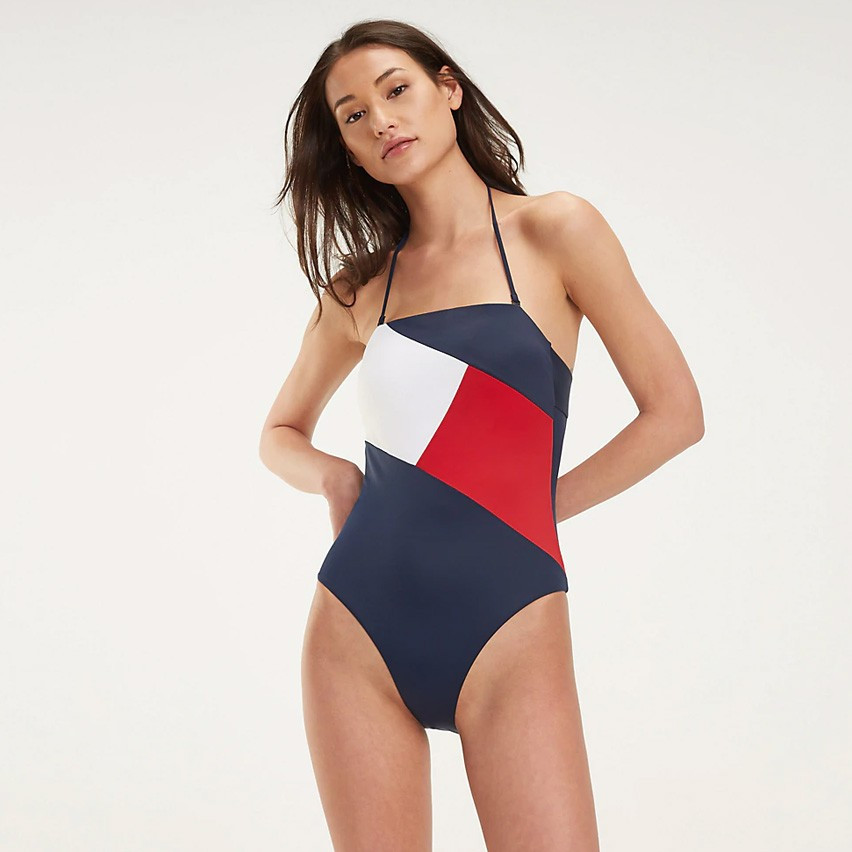 Tommy Jeans Colour-Blocked One-Piece Swimsuit (9000029488_22921)
