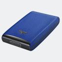 Tru Virtu Credit Card Case Fan Leather Needle Elec
