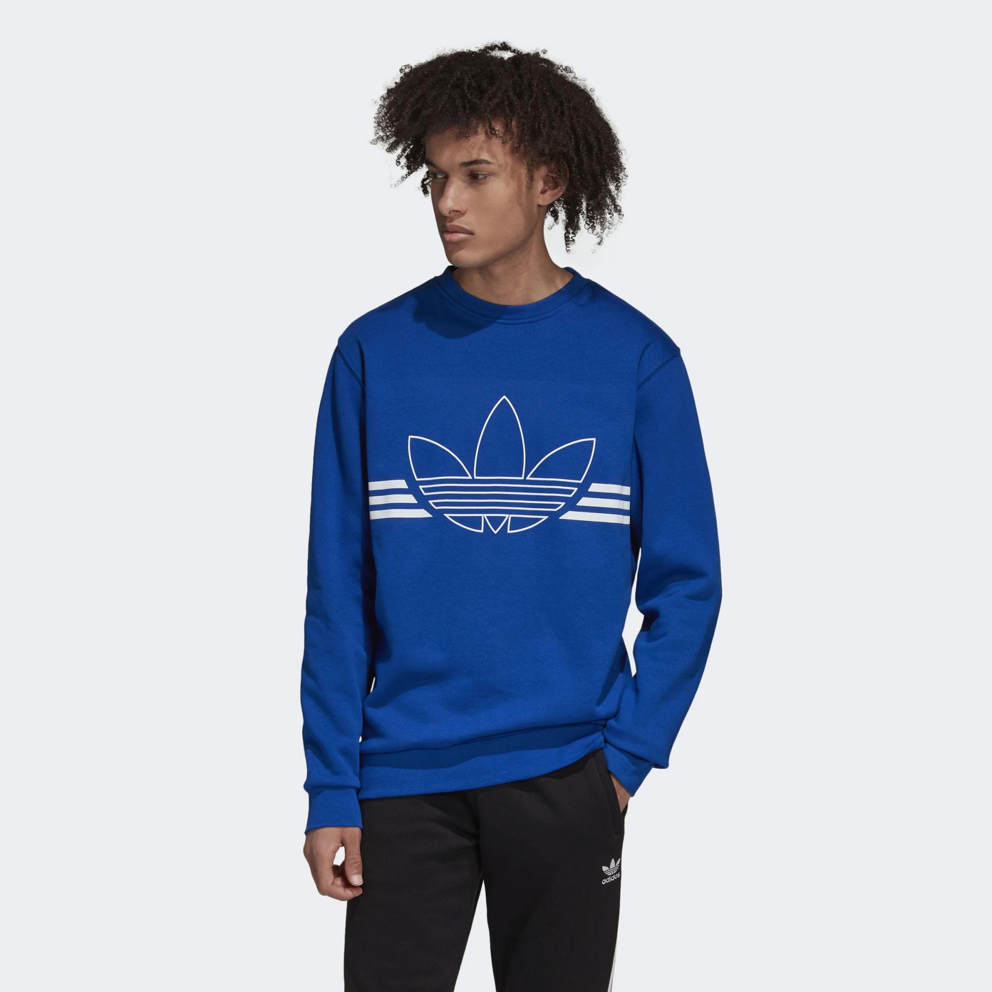 adidas Originals Men's Outline Crewneck Sweatshirt (9000031892_7666)