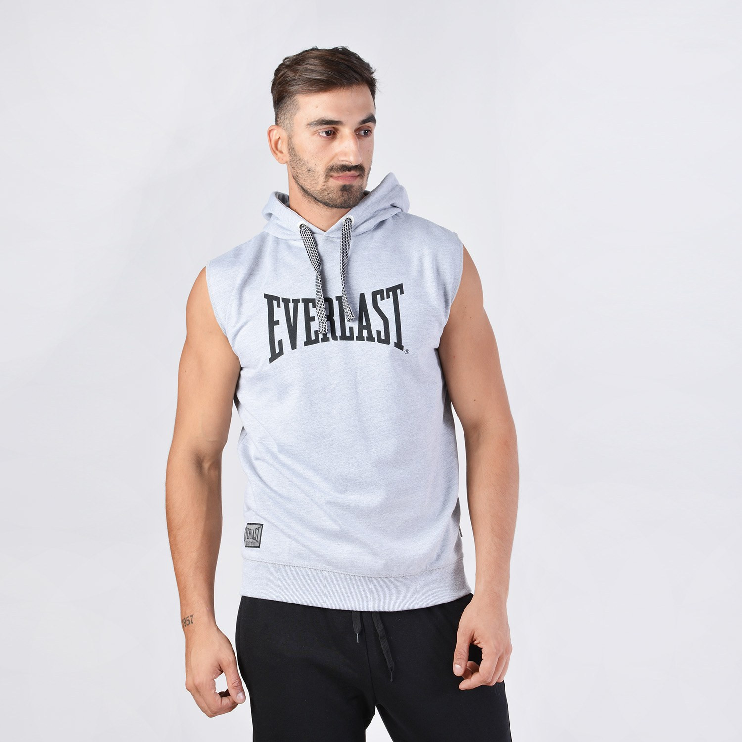Everlast MENS SLEEVELESS HOODED TOP (9000040733_6216)