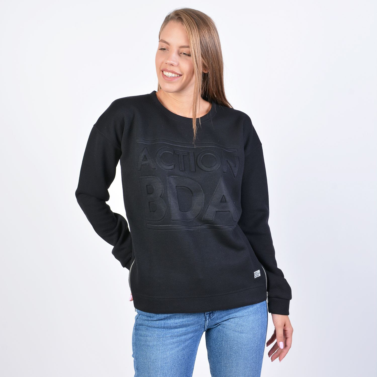 Body Action Women Crew Neck Jumper (9000041204_1899)