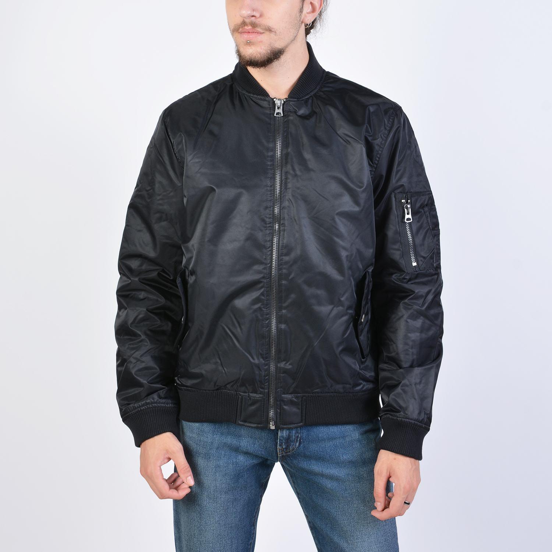 Body Action Men Vintage Bomber Jacket (9000041224_1899)